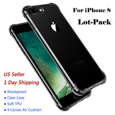 Wholesale Lot Hybrid Soft TPU Shockproof Cover Clear Case For iPhone 6s/7/8 10/X