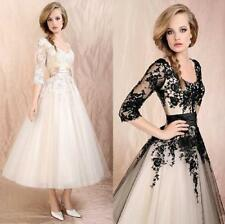 Womens Wedding Dress Lace Prom Ball Cocktail Party Bridal Formal Evening gown M-