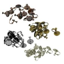 10pcs Clip On Earring With Blank Bezel DIY Jewellery Making Findings Crafts