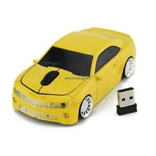 2.4GHz Wireless USB Sports Car Shape Laptop Computer Optical Mouse FF 01