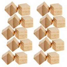 20pcs Natural Unfinished Wooden Blocks Wood Pieces DIY Handcrafted Carving