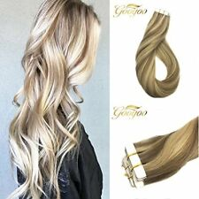 Googoo Highlight Remy Tape in Human Hair Extensions Two Tone Ash Blonde #16