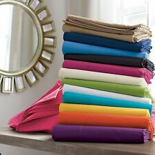 Best 1Pc Flat Sheet ,2Pc Pillow Case 1000TC Egyptian Cotton All Sizes,Colors
