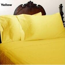 1000 THREAD COUNT YELLOW STRIPE EGYPTIAN COTTON UK BED SHEET SET/DUVET/FITTED