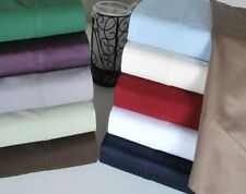 US Cal-King Size Bedding Items 1000 TC Best Egyptian Cotton Solid/Stripe Colors.