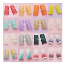 Glitter French False Nail Artificial False Nails Tips Acrylic Gel Glue ANails