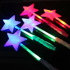 15 x LED Glowing Flashing Star Fairy Wand Sticks Children Light-Up Toys Party
