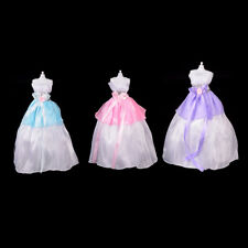 Wedding Party Mini Gown Handmade Dress Fashion Clothes For Barbie Doll 3 Color ,