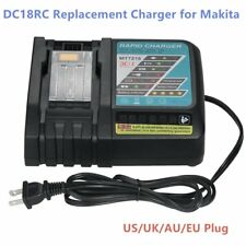 14.4V-18V 3A Li-ion Battery Charger Replacement for Makita DC18RC DC18RA Lot MA