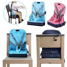 Kid Baby Dining Chair Highchair Seat Harness Bag Cushion Pad Booster Portable LS