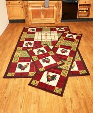 Rooster Area Rug Accent Runner Farmhouse Home Decor Country Kitchen Basics