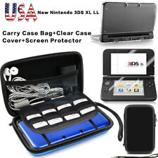Carrying Bag+Clear Case Cover+Screen Protector for New Nintendo 3DS XL
