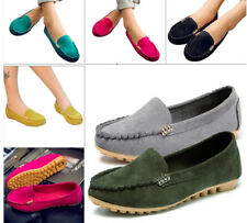 AU Womens Ballerina Slip On Loafers Low Flats Anti Skid Moccasin Work Shoes Size