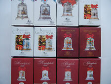 HUTSCHENREUTHER CHRISTMAS BELL GLASS CRYSTAL BELL Since 1991 - Individual Sale