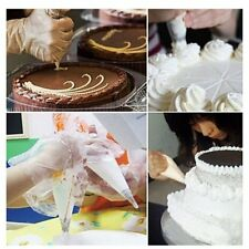 100Pcs Disposable Piping Bag & Icing Nozzle Fondant Cake Decorating Pastry AG