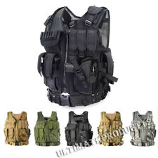 MOLLE Tactical Vest Jacket Army Operator Plate Carrier Body Armor Chest Assault
