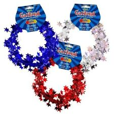 12ft Star Metallic Tinsel Wire Garland Christmas Tree Wedding Party Decoration
