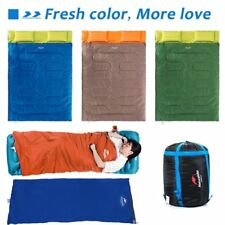 "Huge Double Sleeping Bag 23F/-5C 2 Person Camping Hiking 86""x60"" W/2 Pillows GO3"