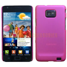 Pink Matt Finish Shockproof Hard Back Case Cover For Samsung Galaxy S2 SII i9100