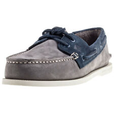 Sperry Ao 2-eyelet Washable Mens Boat Shoes Grey Navy New Shoes