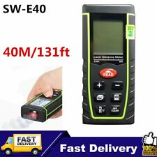 40m Digital Laser Distance Meter Measurer Area Volume Range Finder Measure FK