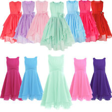 Flower Girl Dress Party Wedding Bridesmaid Pageant Gown Birthday for Kids 4-14Y