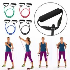 Fitness Resistance Band Rope Tube Elastic Exercise for Yoga Pilates Workout JLN