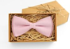 Baby pink bow tie for wedding, baby pink bow tie, mens bow ties, kids bow ties