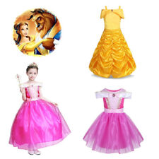 Kid Girl Ruched Fairy Tale Princess Halloween Costume Cosplay Party Fancy Dress