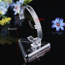 """3.5"""" New Clear Plastic Retail Riser Jewelry Bracelet Bangle Watch Display Stand"""