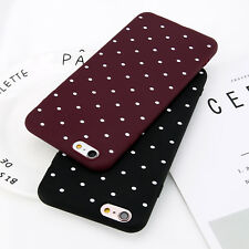 For iPhone 5 5s SE 6 7 Plus Shockproof Polka Dot Slim Rubber Soft TPU Case Cover