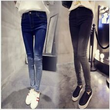 Women High Waist Slim Fit Ripped Hole Jeans Stretchy Pencil Pants Trousers LN