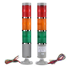 110/220V Alarm Warning Light Industrial LED Signal Tower Buzzer Red Green Yellow