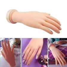 New Flexible Soft Plastic Flectional Mannequin Model Hand Nail Art Practice DR