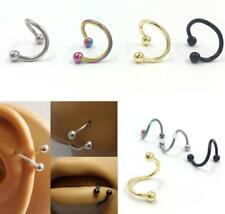 Surgical Stainless Steel Nose S-shape Nose Lip Rings Stud Body Piercing Jewelry