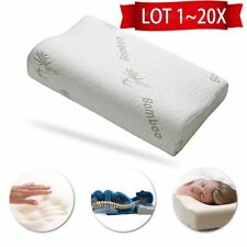 LOT 1~20X Comfort Contour Bamboo Fiber Memory Foam Pillow & Removable Case s@