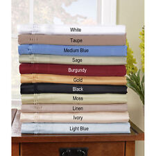 Queen Size 1000 TC Egyptian Cotton Sheet Set/Duvet/Fitted/Pillow All Solid Color