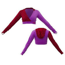 Zumba Fitness Get Down Cropped Hoodie Jacket in Purple/Red - NWT, XL, Ships Fast