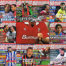 90 Minutes football magazine A4 player picture poster Swindon Town - VARIOUS