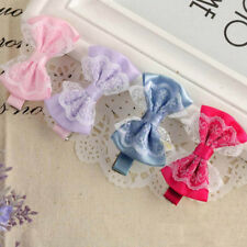 2Pcs Lovely Cute Lace Bowknot Hair Clip Baby Girl Hairpin Child Hair Accessories