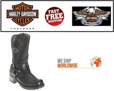 Harley-Davidson D85514 Womens Amber Black Leather 9.5 Inch WP Motorcycle Boots