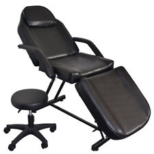 Beauty Barber Chair With Stool Facial Tattoo Chair Massage Bed Salon Equipment