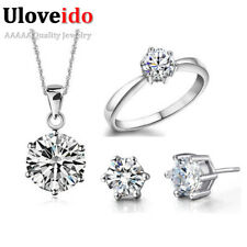 40% off Bridal Wedding Jewelry Sets 925 Sterling Silver Jewelry Earrings Ring