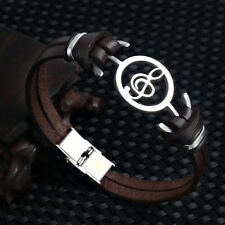 Musical Bracelet 2017 new fashion Design stainless steel Genuine Leather