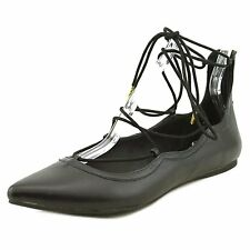 Madden Girl Womens Edgyy Pointed Toe Ankle Strap Slide Flats