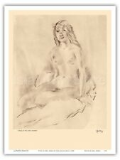 Study of Nude Etchings and Drawings of Hawaiians John Melville Kelly 1940s