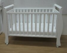 Sleigh Cot Drawer Change Table Mattress Pad Crib Baby Bed Chest White Walnut AU