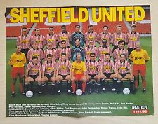 SHOOT football magazine team / squad A3 picture SHEFFIELD UNITED - Various