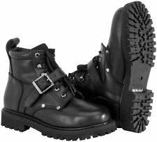 RIVER ROAD MENS MOTORCYCLE CROSSROADS BUCKLE LEATHER BOOTS - PICK SIZE