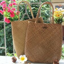 Charming Women Summer Beach Tote Woven Bag Casual Straw Knitted Shoulder Bag SO